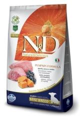N&D Grain Free  Dog Pumpkin Lamb & Blueberry Puppy Mini 2,5 кг Беззерновой Ягненок с Черникой и Тыквой Для Щенков Мини  Farmina