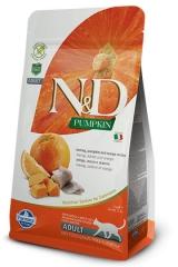 N&D Grain Free Cat Pumpkin Herring & Orange 1,5 Kg Беззерновой Для Взрослых Кошек Сельдь С Апельсином и Тыквой Farmina