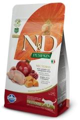 N&D Grain Free Cat Pumpkin Quail & Pomegranate Neutered 1,5 Kg Беззерновой Для Стерилизованных Кошек и Кастрированных Котов Перепел С Гранатом и Тыквой Farmina