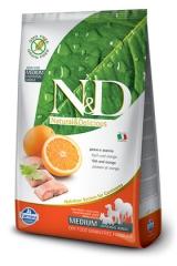 N&D Grain Free Dog Fish & Orange Adult 2,5 Кг Беззерновой Для Взрослых Собак Рыба С Апельсином Farmina