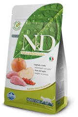 N&D Grain Free Cat Boar & Apple Adult 300 Гр Беззерновой Для Взрослых Кошек Кабан С Яблоками Farmina