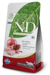 N&D Grain Free Cat Chicken & Pomegrante Adult 300 Гр Беззерновой Для Взрослых Кошек Курица С Гранатом Farmina