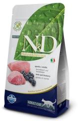 N&D Grain Free Cat Lamb & Blueberry Adult 300 Гр Беззерновой Для Взрослых Кошек Ягненок с Черникой Farmina