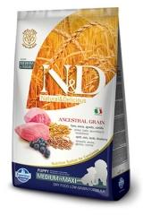 N&D Low Grain Ancestral Dog Lamb & Blueberry Puppy Medium & Maxi 12 Кг Низкозерновой Для Щенков Средних и Крупных Пород Ягненок с Черникой Farmina