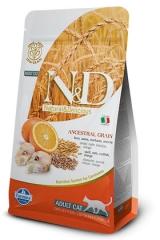N&D Low Grain Cat Codfish & Orange Adult 300 Гр Низкозерновой Для Кошек Треска С Апельсином Farmina