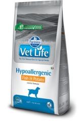 Vet Life Dog Hypoallergenic Fish & Potato 2 Кг Диета Для Собак При Пищевой Аллергии И Пищевой Непереносимости Рыба С Картошкой Farmina