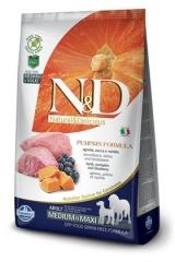 N&D Grain Free Dog Pumpkin Lamb & Blueberry Medium & Maxi Adult 12 Кг Беззерновой Ягненок с Черникой и Тыквой Для Взрослых Собак Средних и Крупных Пород 12 Кг Farmina