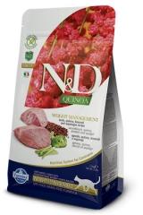 N&D Grain Free Cat Quinoa Weight Management Lamb 300 гр Беззерновой Для Взрослых Кошек Ягненок И Киноа Для Контроля Веса Farmina