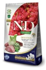 N&D Grain Free Dog Quinoa Digestion Lamb  Adult 2,5 Кг Беззерновой Для Взрослых Собак Ягненок  И Киноа Для Поддержки Пищеварения Farmina