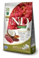 N&D Grain Free Dog Quinoa Skin & Coat Duck Adult 2,5 Кг Беззерновой Для Взрослых Собак Утка И Киноа Для Здоровья Кожи И Шерсти Farmina