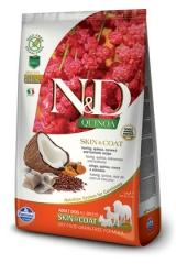 N&D Grain Free Dog Quinoa Skin & Coat Herring Adult 2,5 Кг Беззерновой Для Взрослых Собак Сельдь И Киноа Для Здоровья Кожи И Шерсти Farmina
